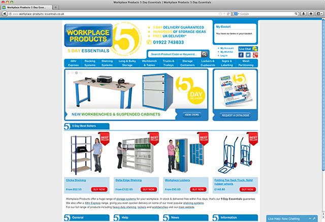 five day essentials websiite screen shot