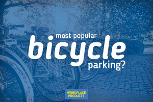 What is the most popular type of bicycle parking?