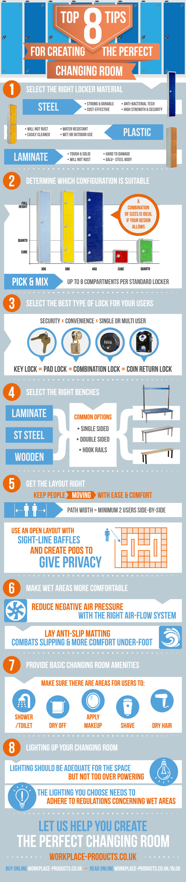 8 Tips for Creating The Perfect Changing Room [Infographic]