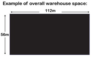 Keep the Warehouse dimensions close to a ratio of 2:1