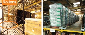 Pallet Live Racking in use