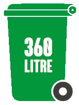 360l Wheelie Bins