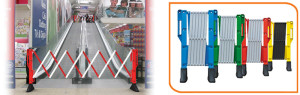 Expanding Barriers are versatile. Use indoors or outdoors for a wide variety of applications.