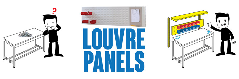 Industrial Workbench louvre panels