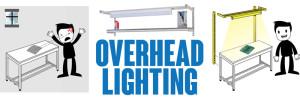 Industrial Workbench overhead lighting