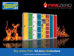 Non-combustible lockers