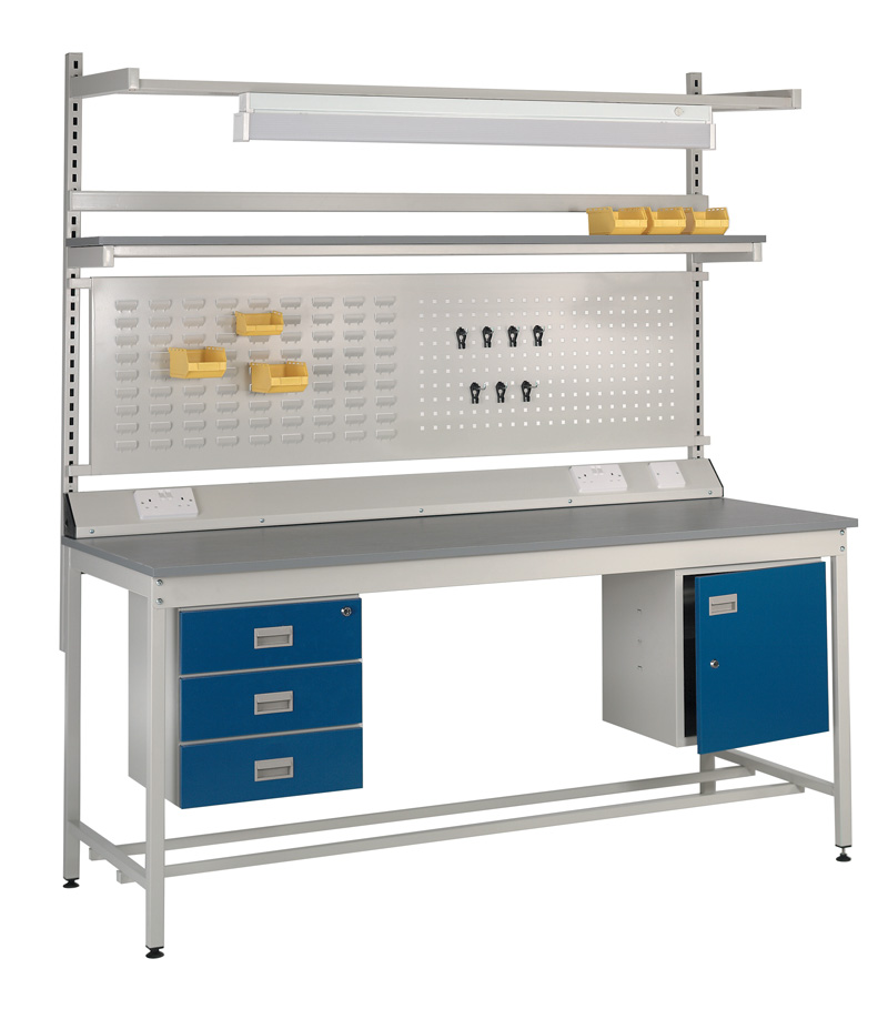 Industrial Workbench with Accessories