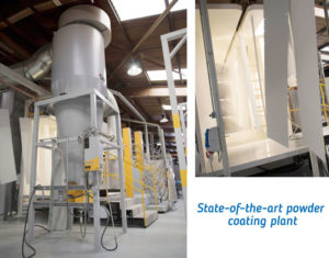 Our state-of-the-art powder coating plant.