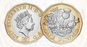 2017 £1 Coin Front & Back