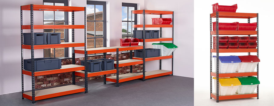 TUFF Shelving Kits with Mixed Bins