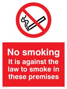 Smoking Law Sign
