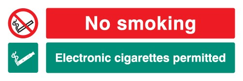 No Smoking E-Cigarettes Permitted Sign