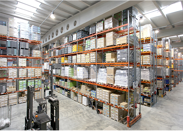 Industrial Racking In Use