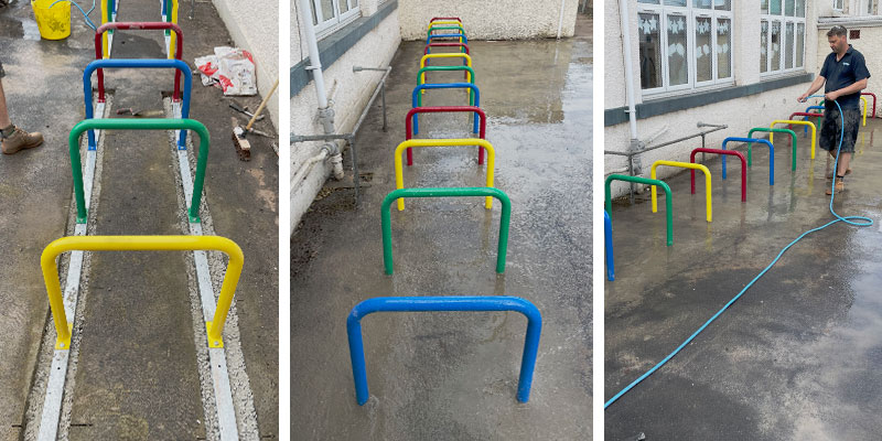 Cycle Racks Installation Finished