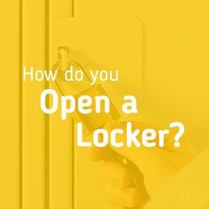 How do you Open a Locker?