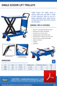 Single Scissor Lift Table