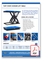 TUFF Static Scissor Lifts Data Sheet