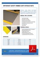 Orthomat Safety Ribbed Matting Data Sheet