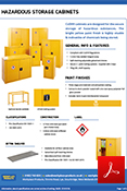 Hazardous Cabinet Yellow