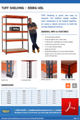 TUFF 300kg Shelving Data Sheet
