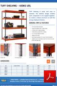TUFF 450kg Shelving Data Sheet