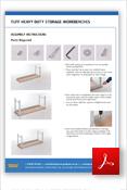 TUFF Heavy Duty Storage Workbenches Assembly Sheet