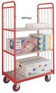 Narrow Aisle Shelf Truck - 2 ends, 2 shelves