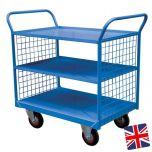 Steel Shelf Trucks Blue