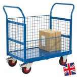 UK Manufactured Mesh Sided Platform Trucks