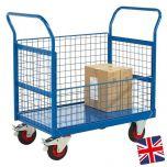 UK Manufactured Mesh Sided Platform Trucks