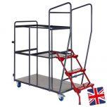 UK Manufactured - 2.5 Shelf Order Picking Trolley