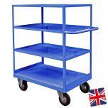 Steel Shelf Trucks Blue UK Made