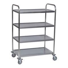 Stainless Steel 4 Shelf Trolley