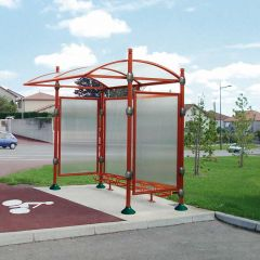Decorative Aluminium Shelter - City Top - Red