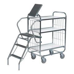 Flexible Ladder Trolleys - 3 Shelves