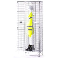 Express Wire Mesh Locker - 2x Single compartments