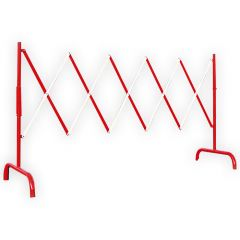 Steel Extending Safety Barrier - Red & White
