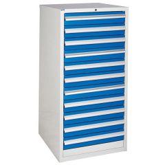 600 XL Euroslide 11 Drawer Cabinet - Blue