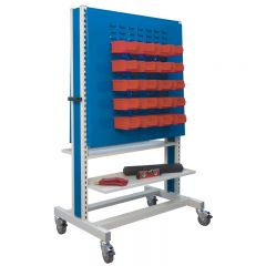 1650 Double Sided Pegboard Trolley with free tool bin kit