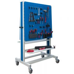 1650 Double Sided Pegboard Trolley with free tool clip kit