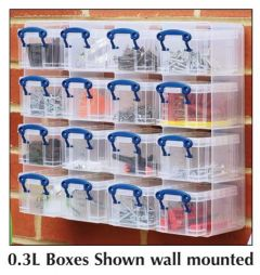 16 Box Organiser - Wall Mounted