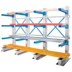 Cantilever Storage Racking - Single Sided - 3 Bays