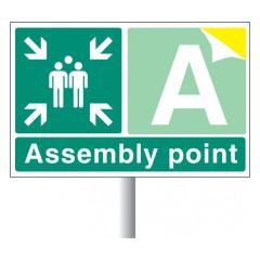 Aluminium Assembly Point Sign