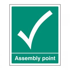 Assembly Point Tick Sign