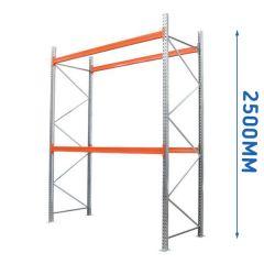 2.5mtr High 2 Level Pallet Racking - 900mm Deep