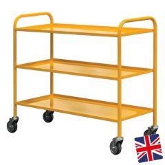 UK Manufactured 3 Shelf Trolley