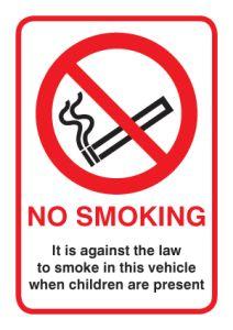 No Smoking in vehicle when children present