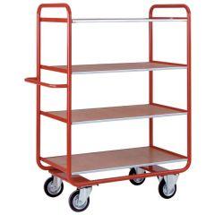 4 Deck Shelf Trolleys