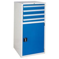 4 Drawer Euroslide Cabinet 600XL - Blue