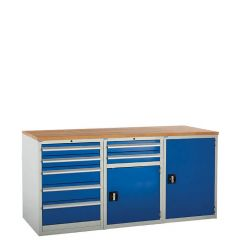 System Tek - Blue Double Cabinet Kit F